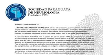La Sociedad Paraguaya de Neumologia informa: