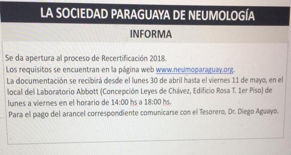 Informe Recertificación 2018