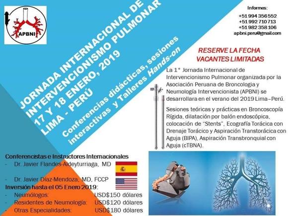 Jornada internacional de Intervencionismo Pulmonar